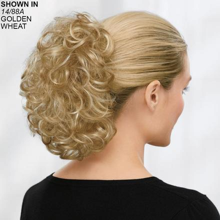 Full-Volume Wavy Clip-On Hair Piece by Paula Young