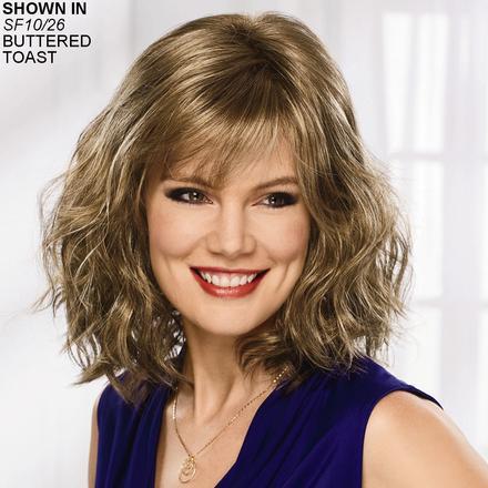 Women s Layered Hair Wigs  Precut Layers   Bangs Wig Styles  cd9ff6ae8