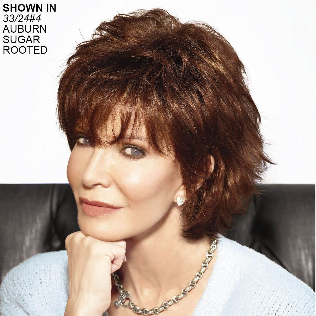 Mid Length Calla Wig By Jaclyn Smith Has Tousled Waves