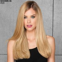 """This luxe human hair clip in hair extension kit will give your existing hairstyle added length and volume in an instant The 10 piece kit includes 20"""" lengths in a variety of widths one 8 wide piece, one 7 wide piece, two 6 wide pieces, two 4 wide pieces, and four 3 wide pieces. Use one or more or all 100 human hair fibers are heat stylable, just like your own hair Weight: 4. 5 oz."""