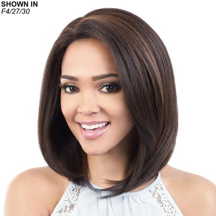 HBSL.Ebon Human Hair Blend Lace Front Wig by Motown Tress™