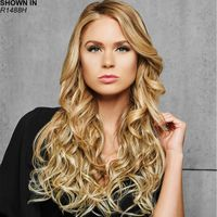 Amp up your look This easy one piece hair extension adds enviable length and lush, bouncy curls to your existing hairstyle in an instant. Tru2Life® heat stylable synthetic fiber can be styled with heat tools on a moderate setting and looks so natural its virtually indistinguishable from real hair. Extension attaches securely with pressure sensitive clips. Length: 22. Weight: 4. 2 oz.