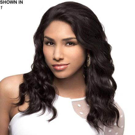 Marina Human Hair Lace Front Wig by Carefree Collection