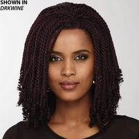 Get the on trend braided look in an instant This fab lace front bob wig with intricate, hand braided shoulder length Senegalese twist braids with curly ends is a stylish and fun braided look youll love. Easy care synthetic fibers hold the style with minimum upkeep. Hand tied lace front creates the illusion that hair is growing from your own scalp in a naturalistic hairline and allows off the face styling options. Extended neck allows more coverage of the nape of the neck so you can easily tuck away any stray hairs underneath. Yaki texture adds visual interest and depth to the color. Length: 16 Front; 16 Top; 16 Crown; 11. 5 14. 5 Sides; 15. 5 Upper Back; 9 Nape. Weight: 8. 2 oz.