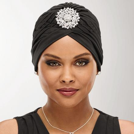Turban with Brooch by Especially Yours®