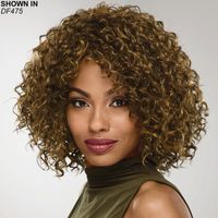 Shoulder length layers of voluminous spiral curls give this gorgeous, on trend long bob wig so much bounce, body, and texture. The full top and sides and curly, fringeless front complete the stylish, face flattering silhouette. Easy care synthetic fibers hold the style with minimum upkeep. Permatease technology provides volume without adding weight. Exclusive CUSTOMFIT caps four way stretch construction and front and back combs provide a comfortable, customizable, and secure fit. Extended neck allows more coverage of the nape of the neck so you can easily tuck away any stray hairs underneath. Yaki texture adds visual interest and depth to the color. Length: 7 9. 75 Front; 12. 25 Top; 12. 25 Crown; 11 Sides; 11 Upper Back; 8. 5 Nape. Weight: 4. 7 oz.